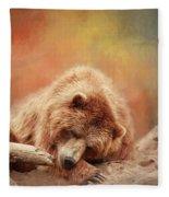 Bearly Asleep Fleece Blanket