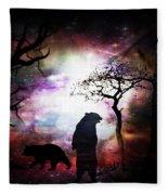 Bears Night Out Fleece Blanket