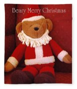 Beary Merry Christmas  Fleece Blanket