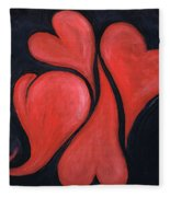Beating Hearts  Fleece Blanket