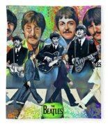 Beatles Fan Art Fleece Blanket