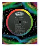 Beatles Revolver Rainbow Lp Label Fleece Blanket