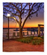 Beaufort Waterfront Fleece Blanket