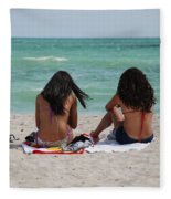 Beauties On The Beach Fleece Blanket