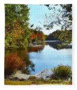 Willow Pond, Caleb Smith Preserve Fleece Blanket