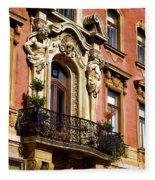 Beautiful Balcony In Austria Fleece Blanket