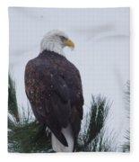 Beautiful Bald Eagle Fleece Blanket
