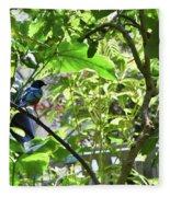 Beautiful Bird Perched In A Tree Fleece Blanket