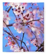 Beautiful Blossoms Blooming  For Spring In Georgia Fleece Blanket
