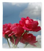 Beautiful Bouquet Of Roses Fleece Blanket