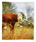 Beautiful Bovine 2 Fleece Blanket