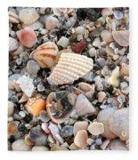 Beautiful Broken Shells Fleece Blanket