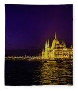 Beautiful Budapest Parliament Fleece Blanket