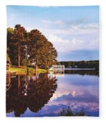 Beautiful Bunn Lake - Zebulon, North Carolina Fleece Blanket