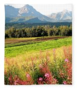 Beautiful Butte Alaska Fleece Blanket