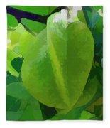Beautiful Carambola Fruit Tree Fleece Blanket