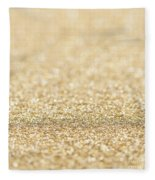 Beautiful Champagne Gold Glitter Sparkles Fleece Blanket