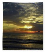 Beautiful Clearwater Sunset Fleece Blanket