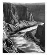 Beautiful Colorado River Page Arizona Blk Wht  Fleece Blanket
