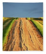 Beautiful Colors Along A Saskatchewan Country Road Fleece Blanket
