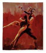 Beautiful Couple Dance 02 Fleece Blanket