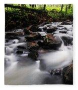 Beautiful Creek In Western Ghats Region Of Karnataka State India Fleece Blanket