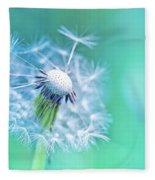Beautiful Dandelion Fleece Blanket