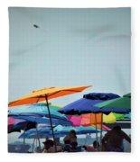 Beautiful Day For The Beach Fleece Blanket