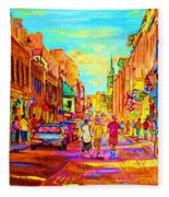 Beautiful Day  In The City Fleece Blanket