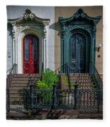 Beautiful Doors On Bull Street Fleece Blanket