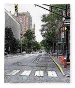 Beautiful Downtown Hoboken  Fleece Blanket