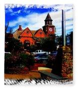 Beautiful Downtown Solvang Fleece Blanket