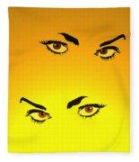 Beautiful Eyes Fleece Blanket