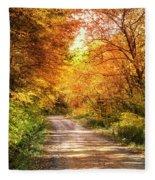 Beautiful Fall Day Fleece Blanket