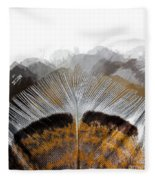 Beautiful Feather Fleece Blanket
