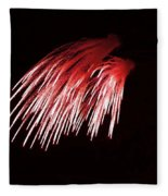 Beautiful Fire Works With Splash Of Red Color.  Fleece Blanket