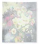 Beautiful Flower Sketch  Fleece Blanket