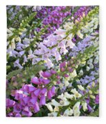 Beautiful Foxglove Fleece Blanket