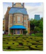 Beautiful Garden At France Pavilion Fleece Blanket