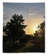 Beautiful Greenery Park In The Afternoon  Fleece Blanket