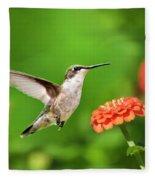 Beautiful Hummingbird Fleece Blanket