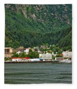 Beautiful Juneau Alaska Fleece Blanket
