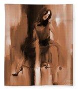 Beautiful Lady 01 Fleece Blanket