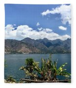 Beautiful Lake Atitlan Fleece Blanket