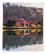 Beautiful Landscape Near Lake Lure North Carolina Fleece Blanket