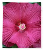 Beautiful Large Hibiscus Fleece Blanket