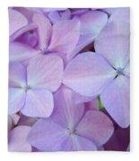 Beautiful Lavender Purple Hydrangea Flowers Baslee Troutman Fleece Blanket