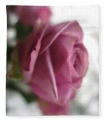 Beautiful Lavender Rose 3 Fleece Blanket