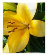 Beautiful Lily I Fleece Blanket