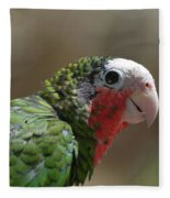 Beautiful Look At At The Profile Of A Conure Parrot Fleece Blanket